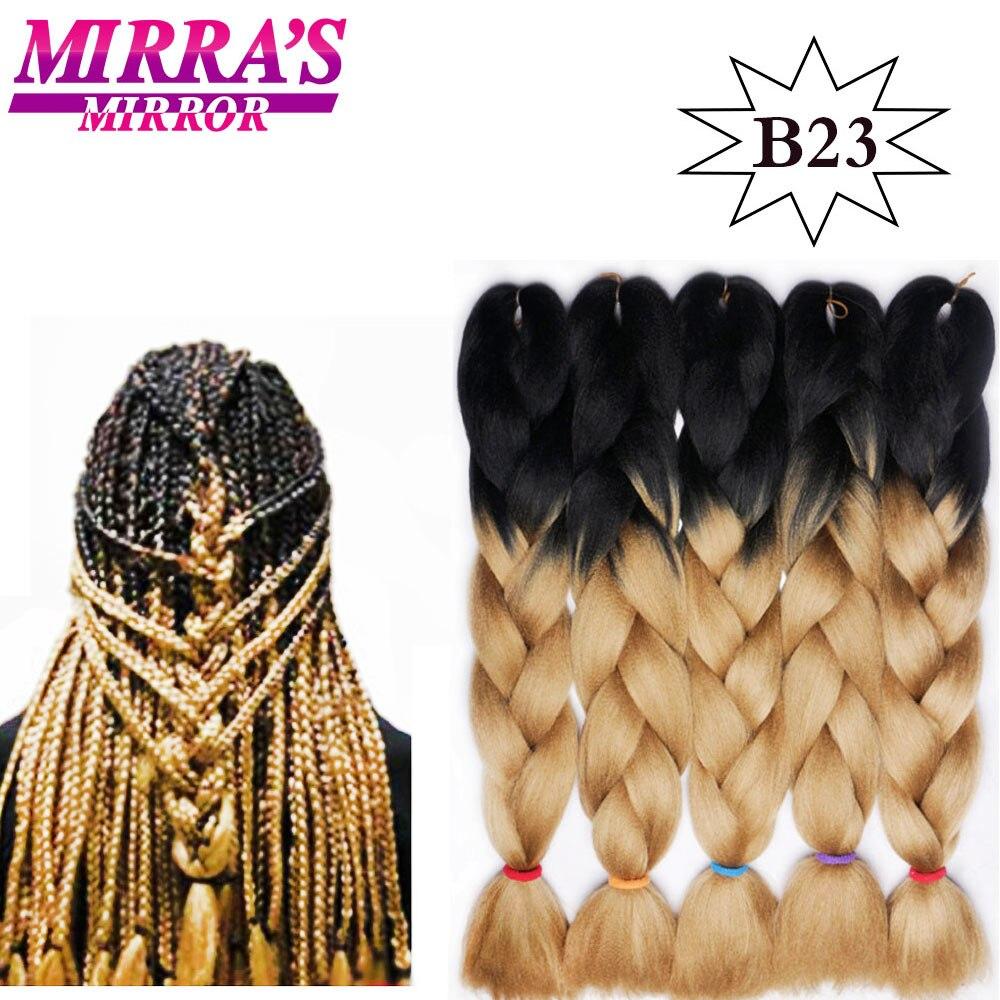 Зеркальные синтетические плетеные волосы Mirra с эффектом омбре, Длинные вязаные волосы, розовые, синие, светлые, зеленые, красные волосы для н...