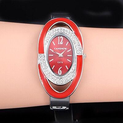 Montre Femme Creative Luxury Women Rhinestone Bracelet Watch Fashion Woman Bangle Watch Ladies Watch Zegarek Damski Female Clock