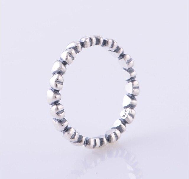 Старинные от сердца к сердцу европейский марка шарм кольца совместимость 925 серебряные ювелирные изделия RIP016