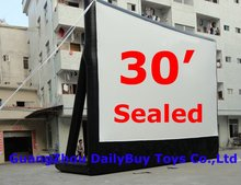 MS01 BENAO 30ft LOWEST price purchase inflatable movie screen/outside movie screen and projector for advertising