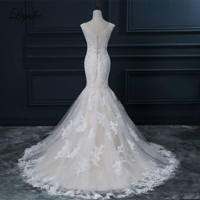 Liyuke Κομψό Σατέν Τούλι Γλυκιά Φόρεμα - Γαμήλια φορέματα - Φωτογραφία 3