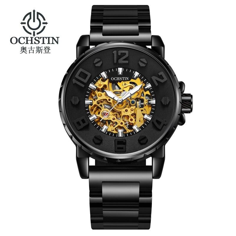 OCHSTIN Luxury Men Mechanical Watch Stainless Steel Waterproof Automatic Self Wind Watches Luminous Male Wristwatch Montre Homme цена