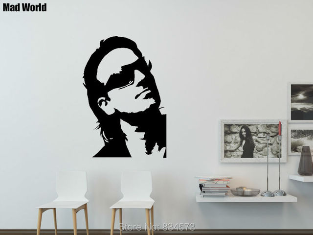 Mad World Famous Celebrity Silhouette Wall Art Stickers Wall Decal ...