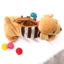 1 PC New Fashion Kawaii Animal Dog Large Capacity Shopping Bags Cute 3D Plush Case Portable Box School Supplies Gifts(China)