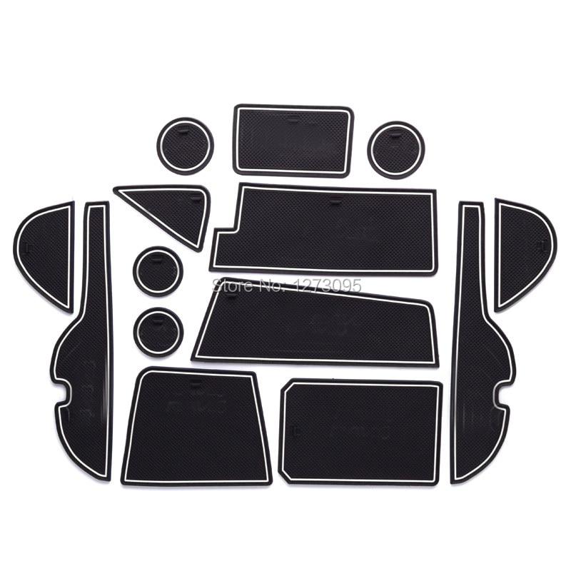 For 2016 2017 Toyota RAV4 Rav 4 Gate Slot Pad Non-slip Cup Mats Anti Slip Door Groove Mat Interior Car Styling Accessories 14pcs car accessories gate slot pad door pad luminous non slip interior door pad cup mat for new mazda 2 demio blue