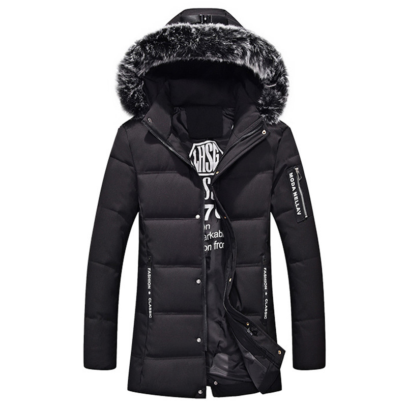 2018 Hot Winter Men Down Parkas Cotton-padded Jackets Men' s Long section Jackets Thicken Coats OverCoat Warm Clothing Big 5XL winter keep warm thicken women s cotton slim long coat hooded parka jackets coats white overcoat plus size down parkas clothes