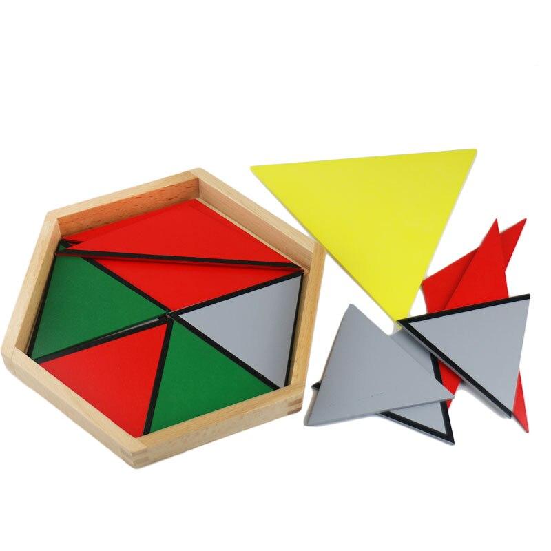 Montessori maths jouets Montessori matériaux préscolaire géométrie Constructive Triangles couleur équilatérale Triangle UD2065H - 4