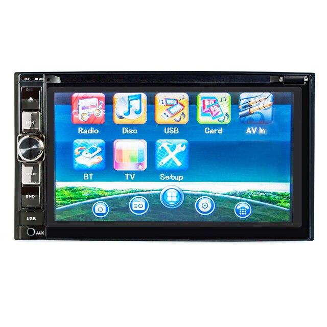 HEVXM 2126 6,2 дюйма автомобильное радио Многофункциональный dvd плеер Bluetooth автомобильный DVD плеер 2 Din автомобильный DVD плеер Реверсивный приоритет