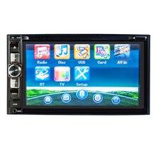 HEVXM 2126 6.2 inç Araba radyo Araba çok fonksiyonlu DVD OYNATICI Bluetooth Araç DVD OYNATICI 2 Din Araba DVD OYNATICI Ters Öncelikli