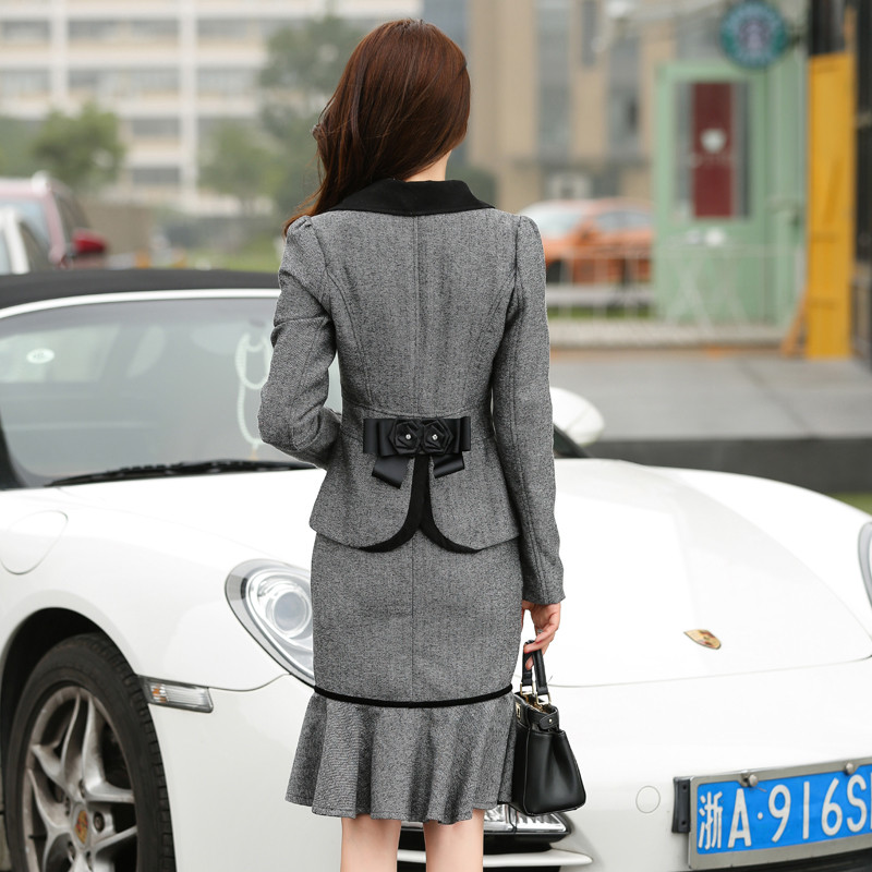 Ladies-Skirt-Suits-2016-New-Fashion-Ruffles-OL-Uniform-Skirt-Suit-Full-Sleeve-Blazer-and-Skirt (1)