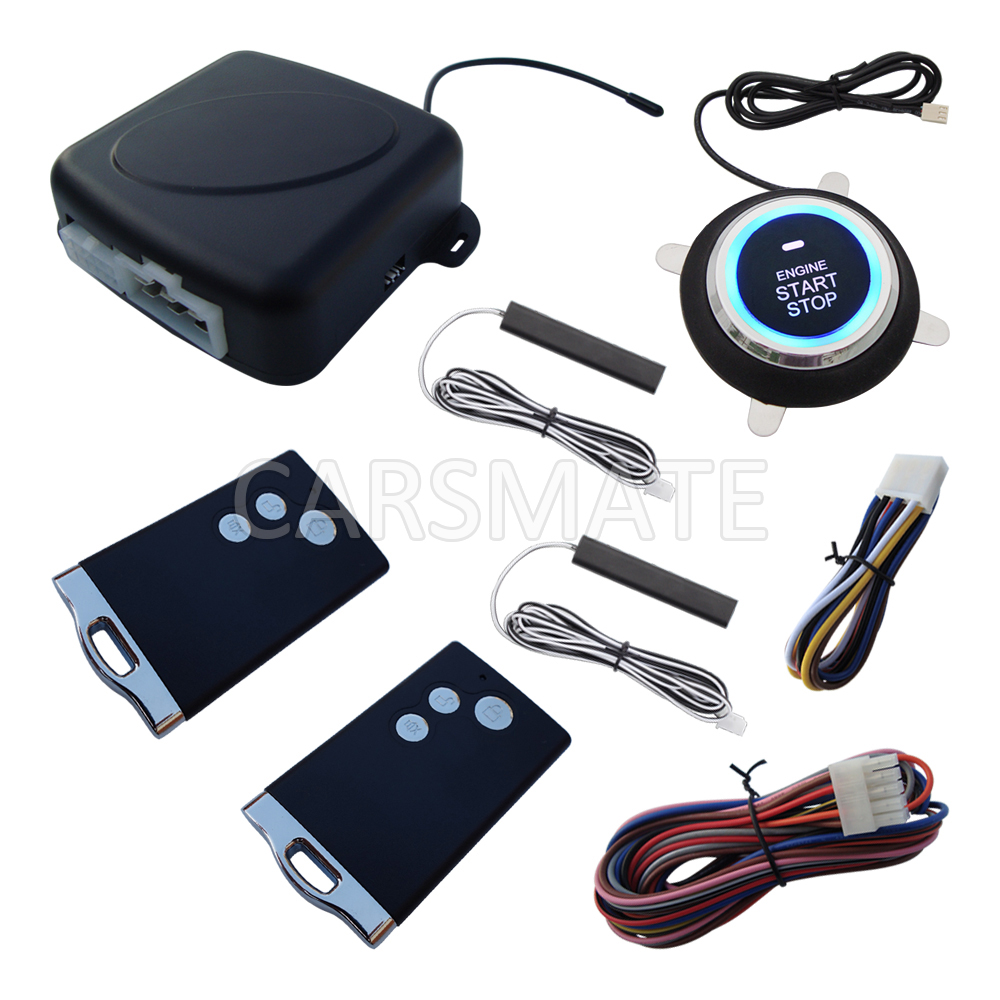 New Rfid Pke Car Alarm System Remote Engine Start Cut Off