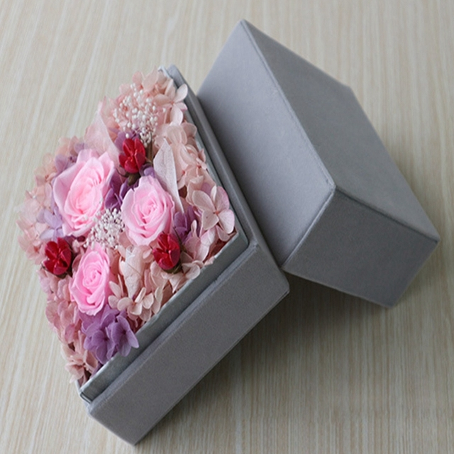 Us 49 9 Mother S Day Diy Gifts Diy Decoration Mother S Day Gifts Preserved Flowers Eternal Flowers Creative Rose Velvet Gift Box In Artificial