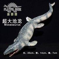 חם צעצוע: Mosasaurus יד צבע רך דגם דינוזאור בעלי החיים PVC דמות פעולה & צעצועים לילדים חינוך מוקדם