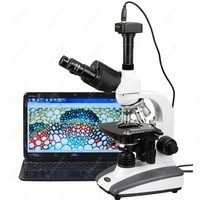 Biological Compound Microscope AmScope Supplies 40X 2000X Biological Compound LED Microscope + Digital Camera