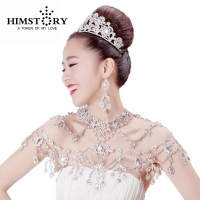 New Luxurious Wedding Bridal Chain Crystal Shoulder Chain Wedding Jewelry Sets Wedding Necklace Sexy Bridal Jewelry
