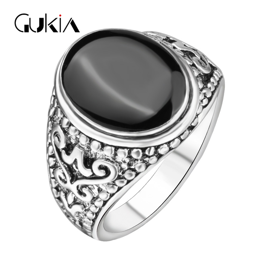 Hot Sale The Black Friday jewelry Sold On The Cheap Plating Silver Ring Vintage Look Enamel Punk Rock Rings For Men