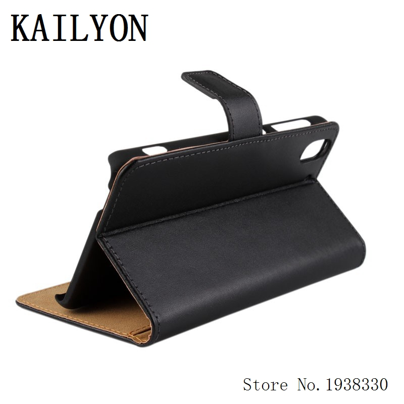 KAILYON Hot Luxury Genuine Leather Case For HTC Desire Eye Phone Shell Flip Wallet Stand Mobile Phone Cover For HTC Desire Eye M