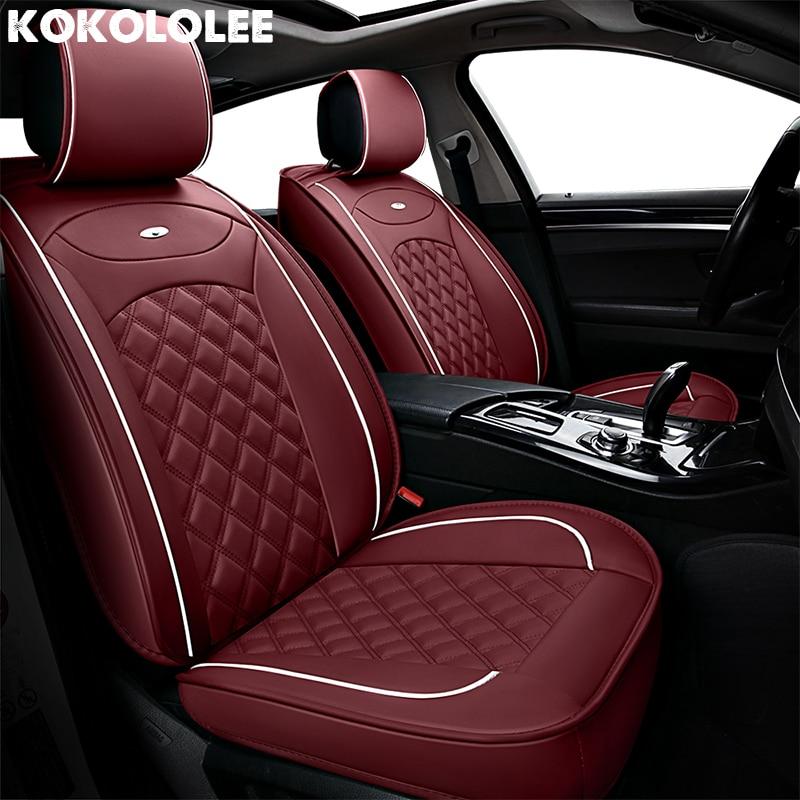 [KOKOLOLEE] Siège de voiture Couvre Pour Audi a3 a4 b6 b8 a6 a5 q7 beige rouge noir étanche souple pu en cuir Automobiles siège couvre
