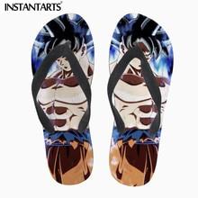 INSTANTARTS Fashion Custom DIY Image Print Mens Summer Slippers Cool Super Saiyan Son Goku Flip Flops Dragon Z Ball Flip-Flop