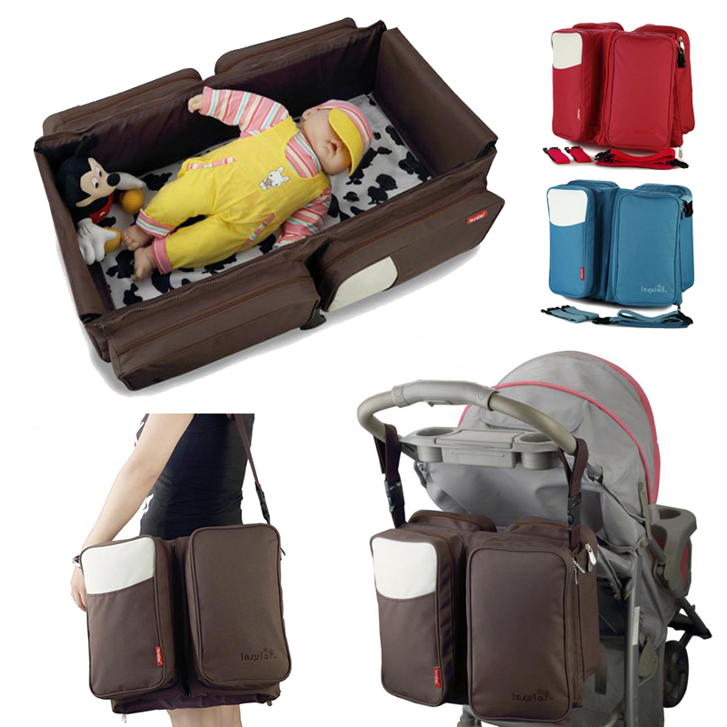 Portable Diaper Bag Newborn Baby Bed Folding Travel Large