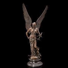WINGED VICTORY pure bronze Greek mythology  Athena sculpture mythical cast statues vintage home decoration CZS-367