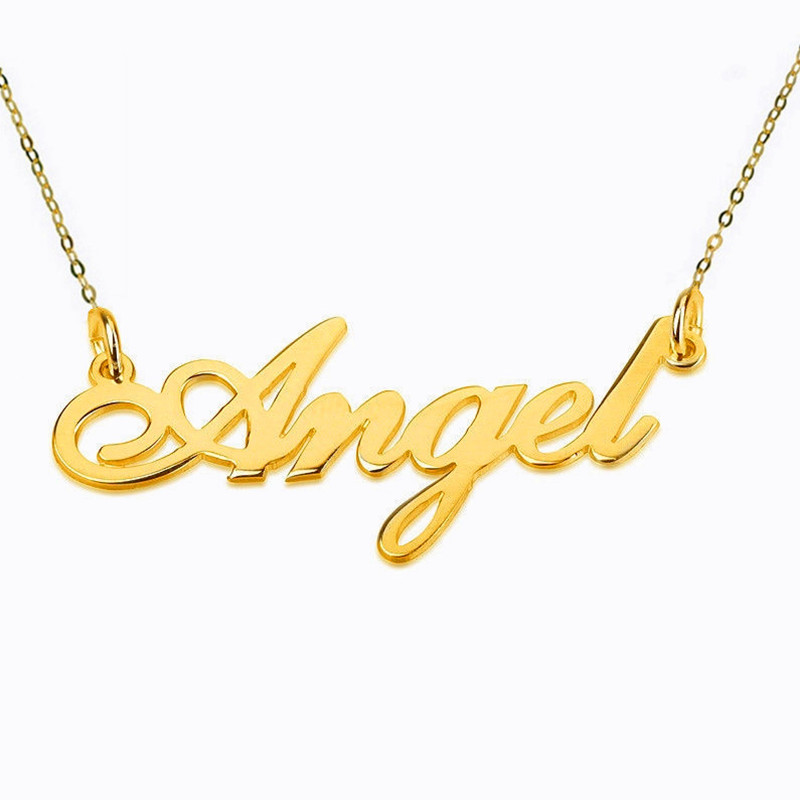 New Any Personalized Gold Name Necklace 925 Silver Jewelry Fascinating Pendant Custom Name Necklace Personalized Necklace