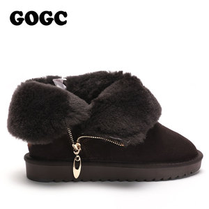 Image 3 - GOGC 100% Wool Genuine Leather Winter Boots Women Warm Winter Boots with Fur for Ladies Design Ankle Boots for Women G9838