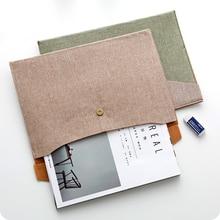 1pc A4 Folder Mafia File Bag Retro Office File Bag Storage Bag