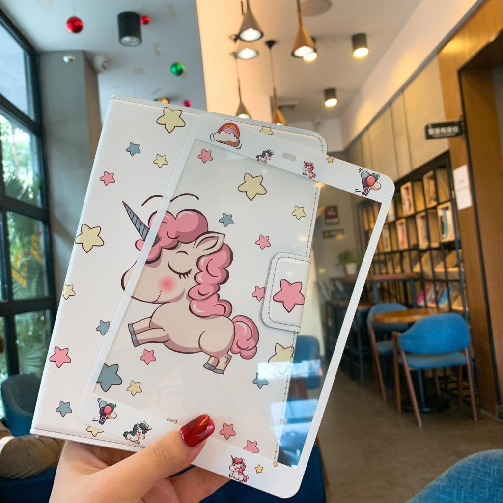 In Design; Disciplined Tempered Glass Screen Protector+pu Leather Cover Case For Apple Ipad Mini 1/2/3 Kt Unicorn Sailor Moon Mickey Minnie Pattern Novel