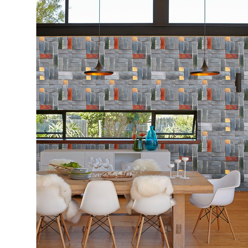 Stone Brick wall Wallpaper Roll papel de parede 3D Living Room Background Wall Decor Art Wall Paper ST 1013 in Wallpapers from Home Improvement