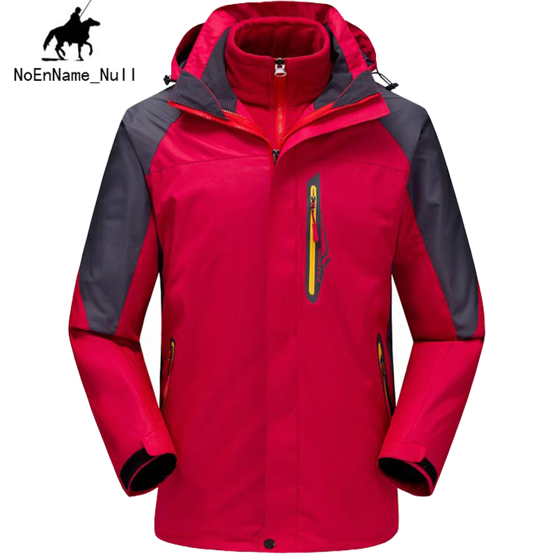 все цены на  Autumn And Winter Men Jackets Authentic Two-Piece Windproof Waterproof Breathable Outdoor Warm Motion Mountaineering Clothes 135  онлайн