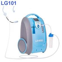 Потребители с мягкой стадией для лечения заболеваний используют портативный кислородный концентратор Lovego LG101, 5 литров