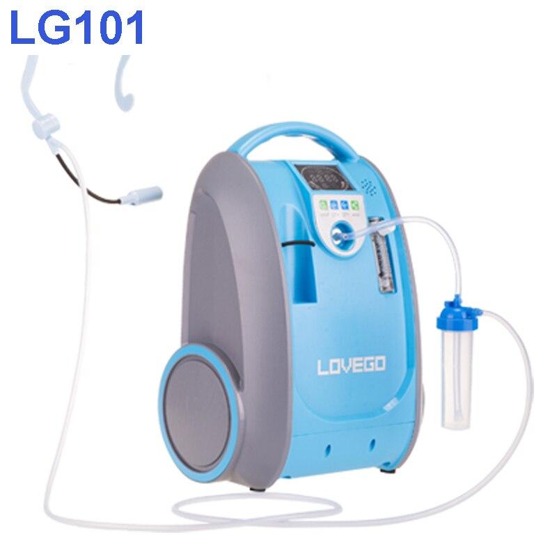 Doux et Moyen stade maladie les consommateurs utilisent 5 litres Lovego concentrateur d'oxygène portable LG101