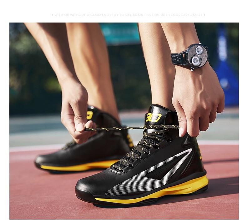 4331a303e 2018 نجم في الهواء الطلق داخلي حذاء كرة السلة للرجال الأولاد رياضية مريحة عالية  أحذية رياضية المضادة للانزلاق حذاء من الجلد خفيفة الوزن