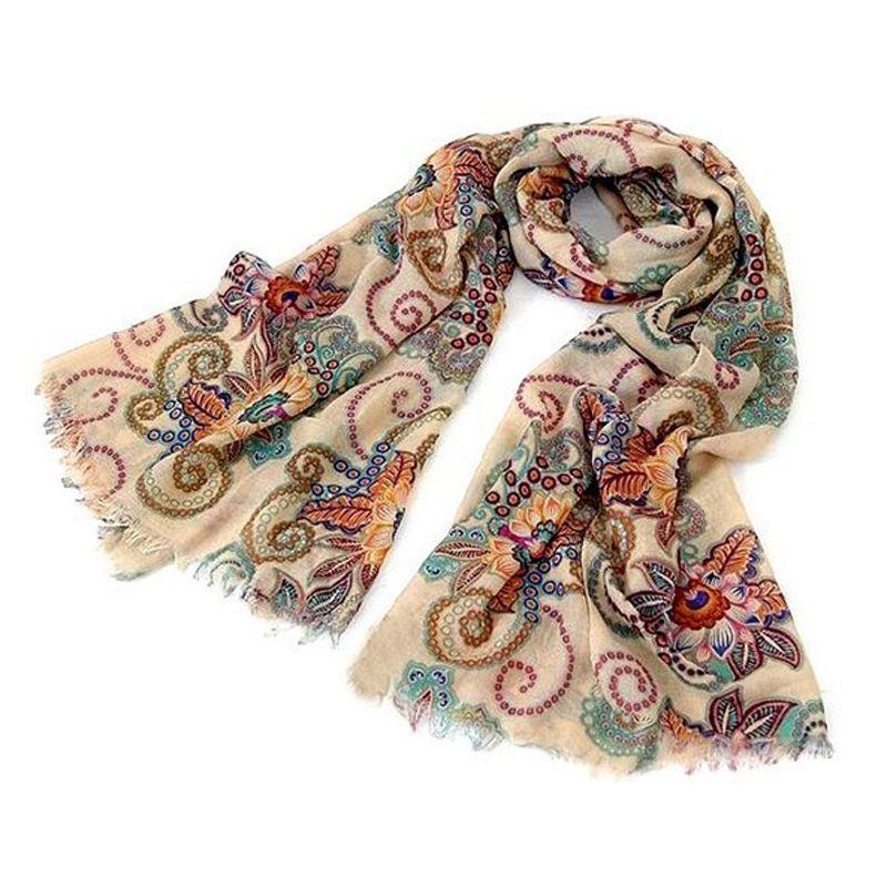 Vogue Women Long Soft Chiffon Scarf Wrap Large Silk Winter Shawl Stole  Scarf Women Colorful Design