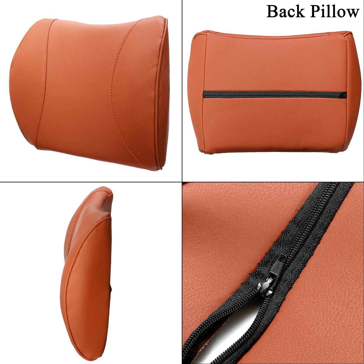 Removable Lumbar Pillow for Car Made with High Density Memory foam and PU Leather for Back Pain relief 14