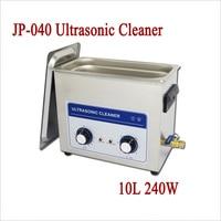 JP 040 Ultrasonic Cleaner 10L 240W AC 110V 220V Jewelry Hardware Eyeglass PCB Watch Ultra Sonic