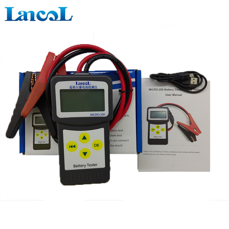 Lancol Factory 200 With Car Automotive Battery Tools For Cars Battery Analyzer Tester Battery Car Battery Life Multi-Languages