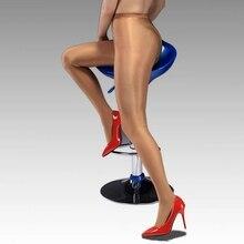 70D ПЛЮС размер Sheer К Талии Shimmer Блеск Т-промежности колготки, блестящие Чулки шланг, Танец Леггинсы сексуальное женское белье L-2XL