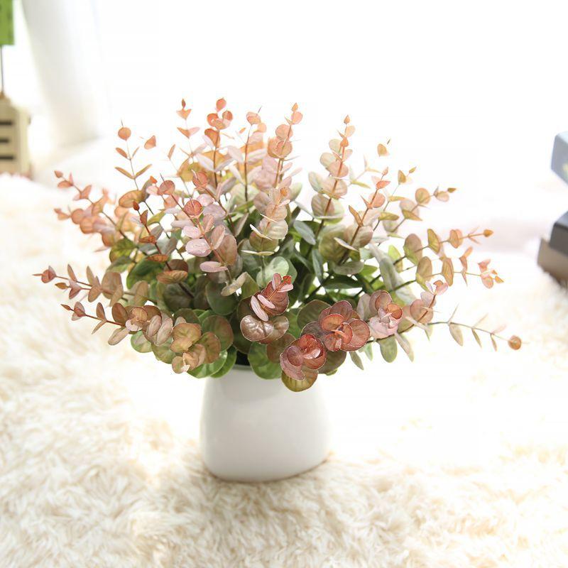 MINI Artificial Eucalyptus Bunch Fake Money Leaves for Wedding Home Garden Decoration Fake Plant