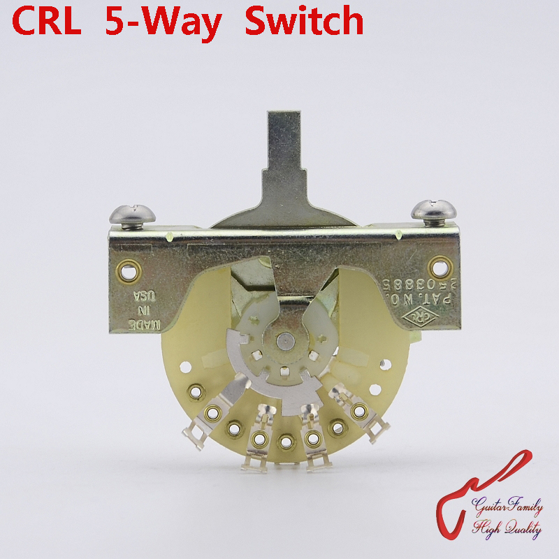 1 Piece Original Genuine GuitarFamily CRL 5-Way Electric Guitar Switch Pickups Switch ( without tip ) MADE IN USA цена