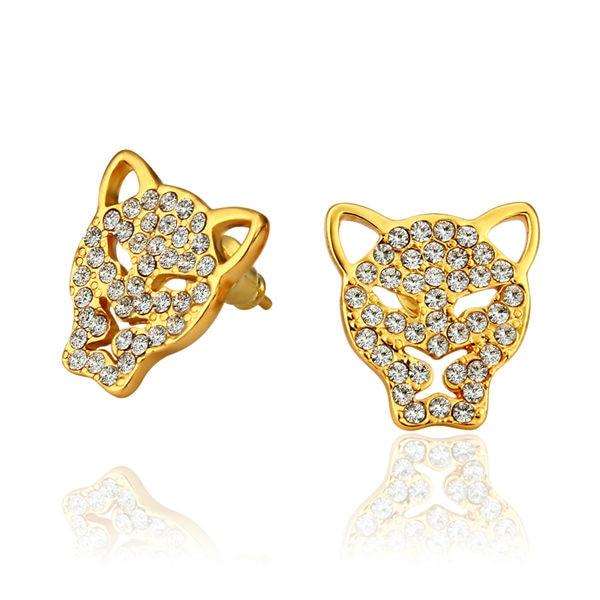 Branded Earrings Gold-Color Lion Stud Earrings For Women Bijoux Ear Rings Earring Piercing New Women Big Earings 2017 E874/6