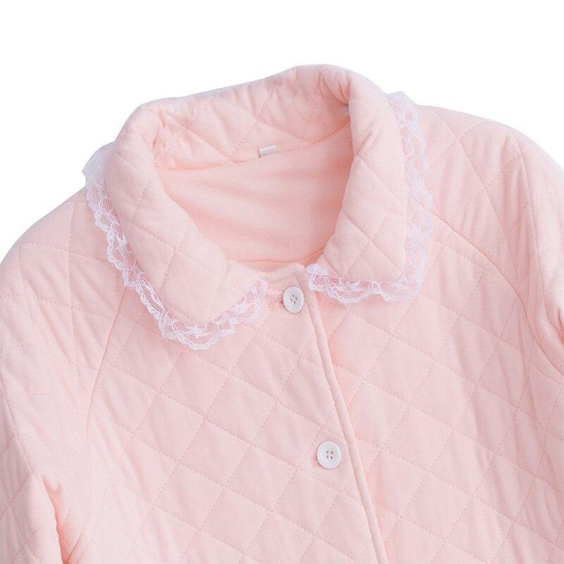 2019 Winter Neue Baumwolle Frau Pyjamas Zwei Stück Lange Sleeve Prinzessin Spitze Nachtwäsche Weibliche Verdicken Warm Halten Pyjama sets DS1007 - 3