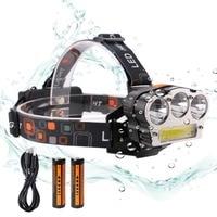 6000 Lumens LED Headlight Lantern Headlamp Flashlight Waterproof Torch 18650 Battery USB Rechargeable Emergency Phone Charger