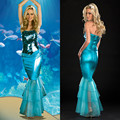 Free shipping adult woman halloween costumes Mermaid Princess Coslay carnival dress party dress