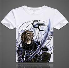 Envío gratis Anime Guilty Crown T-shirt Ouma Shu Cosplay Camiseta de La Manera del Algodón Tops Camiseta Para Hombres Mujeres