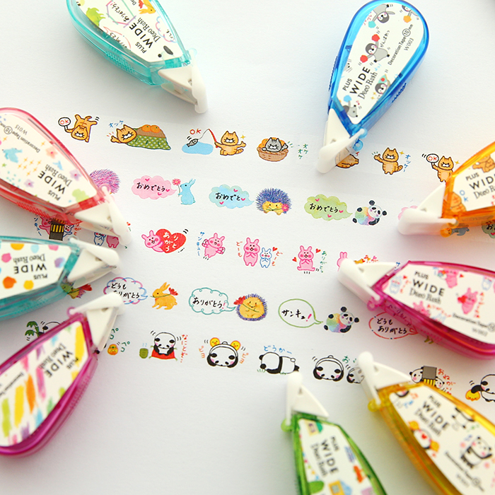 Rainbow/House/Fruit/Flags Decorative Correction Tape Fita Cetim Deco Rush Papeleria Cinta Correctora Kawaii School Materials