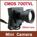 CMOS de alta Resolução 700TVL 25mm Lente Caixa de Cor Mini Câmera de CCTV Interior de Segurança De Longa distância