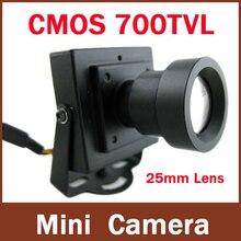 High Resolution CMOS 700TVL 25mm Lens Long distance Security Box Color Mini Indoor CCTV Camera