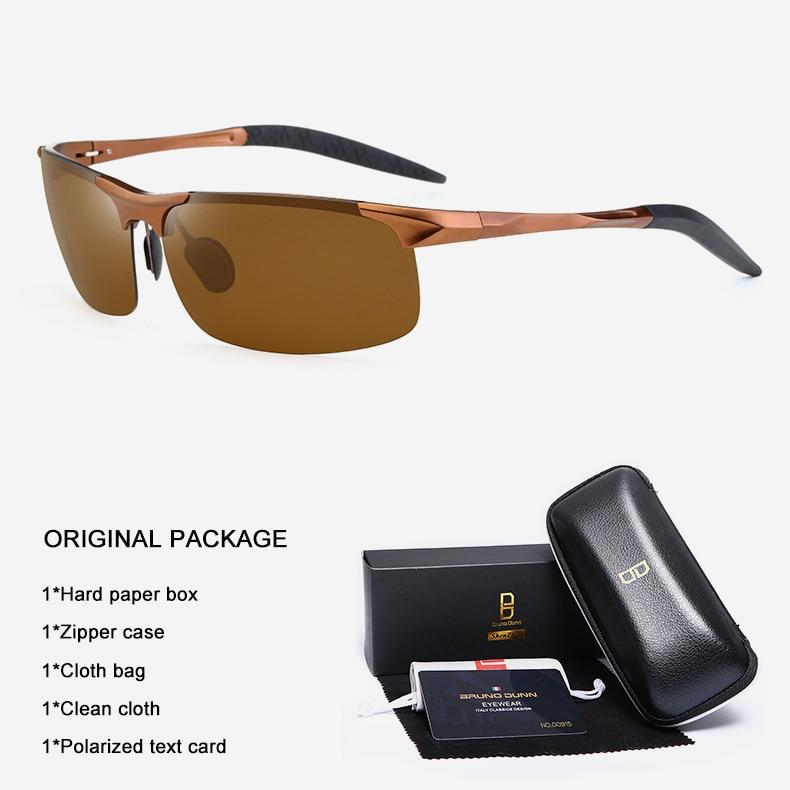 Bruno Dunn Driving polarized Men sunglasses 2020 sports High Quality UV400 Aluminum sun glasses for male oculos de sol masculino 16